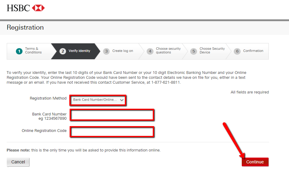 hsbc bank log in canada